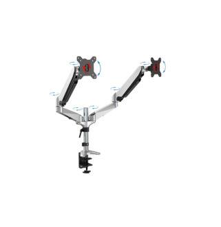 """Univerzális asztali monitor tartó kar gázrugós dupla 15-27"""" max.8kg"""