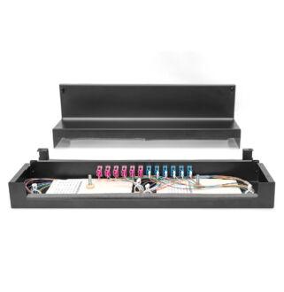 Konszolidációs doboz fém 24xRJ45 Keystone / 12xLC DX