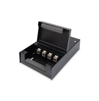 Konszolidációs doboz fém 4xRJ45 Keystone