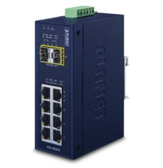 Planet Industrial 8-Port 10/100/1000T + 2-Port 100/1000X SFP Ethernet Switch