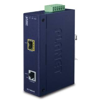 IP30 Industrial 10/100/1000Base-T to Gi- gabit ŰSFPConverter with 802.3at