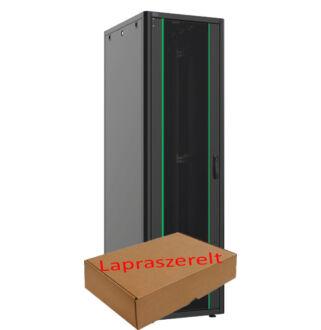 22U szerver rack szekrény   600X600 fekete