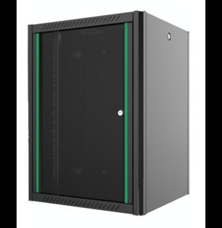 7U fali rack szekrény 600x600 hegesztett fekete
