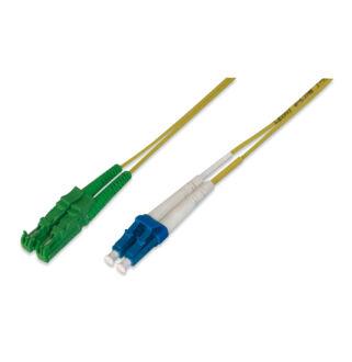 Optikai patch E2/A-LC  9/125 duplex  1m (E2000/APC-LC/PC)