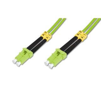 Optikai patch LC-LC 50/125 OM5 duplex 1m Zöld  2mm LSZH kábel