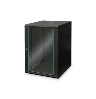 16U fali rackszekrény 600x600 BASIC DN-19 16U-6/6-EC SW