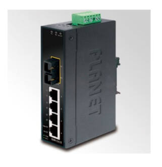 Planet ISW-511T IP30 Slim Type 4-Port Industrial Switch + 1-Port 100Base-FX SC
