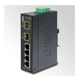 PLANET ISW-621TF IP30 4-Port Industrial Fast Ethernet Switch+ 2-Port SFP