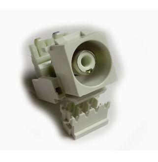 Keystone modul RCA fehér csatlakozóval