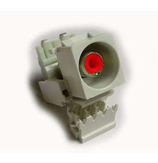 Keystone modul RCA piros csatlakozóval