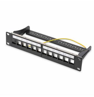 "Patch panel 12 port moduláris 10"" mini DN-91420"