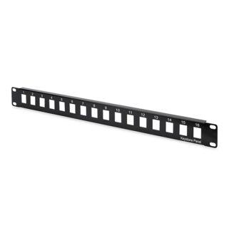 16 portos Patch panel,UTP,moduláris DN-91400