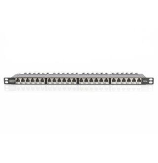 Patch panel 24 port FTP Cat6a 0,5 unit DN-91624S-SL-EA