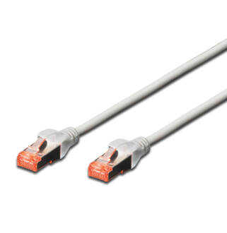 S/FTP Cat6 patch kábel 0,25m szürke AWG27/7  DK-1644-0025