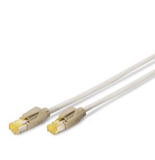 S/FTP Cat6a patch kábel 0,25m szürke AWG27/7  DK-1644-A-0025