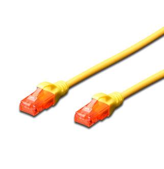 UTP Cat6 patch kábel 10 m, sárga
