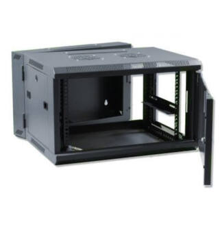 9U fali rack szekrény 600x600 kétrészes