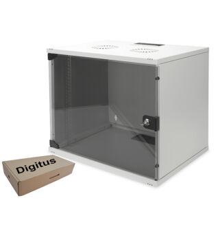 9U fali rackszekrény 540x400 Digitus lapra szerelt