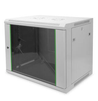 9U fali rackszekrény 600x600 BASIC DN-19-09U-6/6-EC