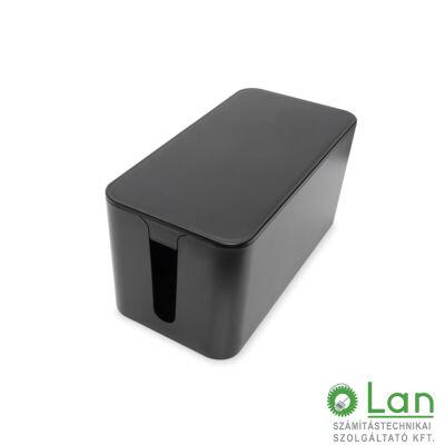 Kábelrendező doboz S fekete DA-90504