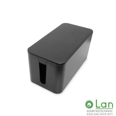 Kábelrendező doboz L fekete DA-90502