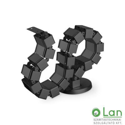 Kábelrendező állítható hosszúság fekete DA-90505