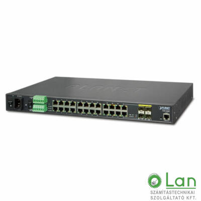 Planet Industrial L2+ 20-Port 10/100/100 +4-Port TP/SFP Combo Managed Switch