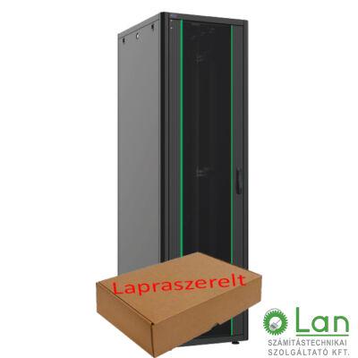 42U szerver rack szekrény   600X800 fekete