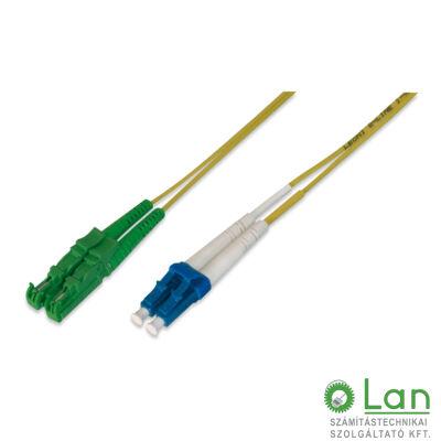 Optikai patch E2/A-LC  9/125 duplex  8m (E2000/APC-LC/PC)