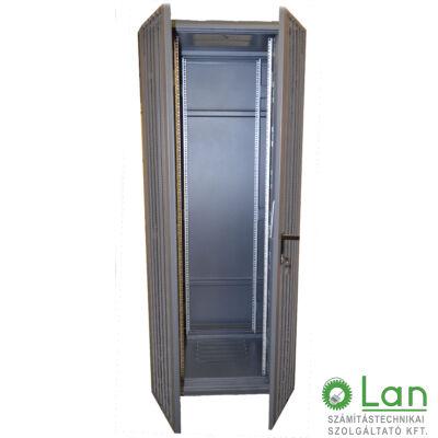 18U szerver rack szekrényhez perforált ajtó (600*18U), dupla G7