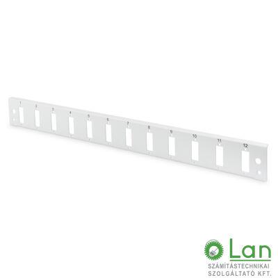 Előlap 1U 12xSC duplex (24szál) DN-96201-QL