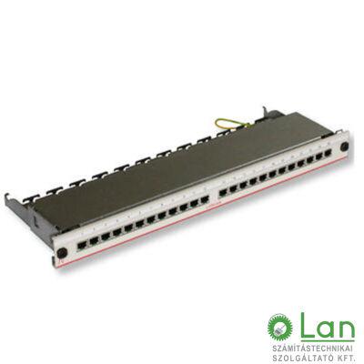 Patch panel 24 port FTP Cat5e LANmark-5 kihúzható