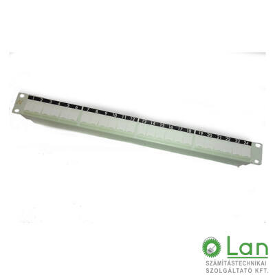 Modular empty Patch Panel for 24 Snap in connectors with clip on system &shutters