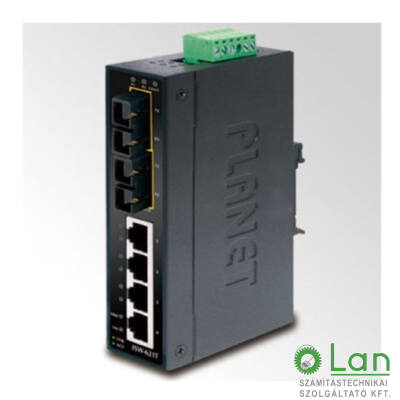 Planet ISW-621T IP30 4-Port Industrial Ethernet Switch + 2-Port 100Base-FX(SC)