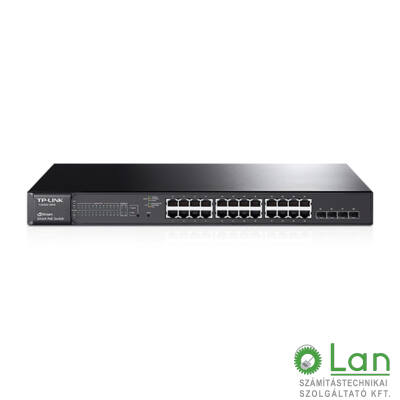 TP-LINK 24 port 10/100/1000 , 1U 19inch rack smart+POE+4SFP
