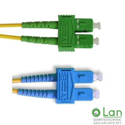 Optikai patch SC-SC/A  9/125 duplex  2m (SC/PC-SC/APC)