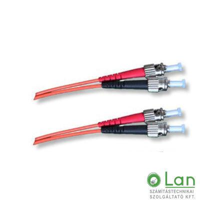 Optikai patch ST-ST 50/125 OM3 duplex 2m