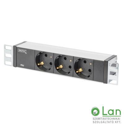 """Kontaszetsor 10""""mini szekrényhez 3x230V Digitus / DN-95411"""