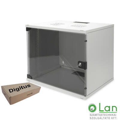 9U fali rackszekrény 540x400 lapra szer. DN-19-09-U-S1