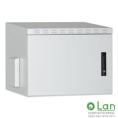 9U fali rackszekrény 600x450 kültéri DN-19 09U-I-OD