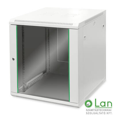 12U fali rackszekrény 600x600 BASIC DN-19 12U-6/6-EC
